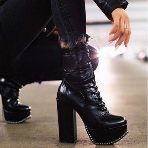 Pandora | Studded Platform Boots | Black